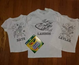 DIY Coloring Shirts With Cricut