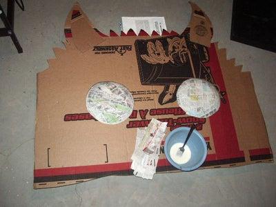 Paper Mache - Glue to Cardboard
