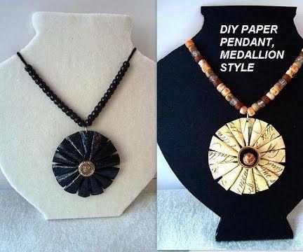 PAPER JEWELRY, Medallion Pendant