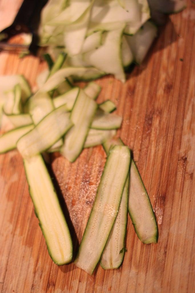 Prepare Filling and Zucchini