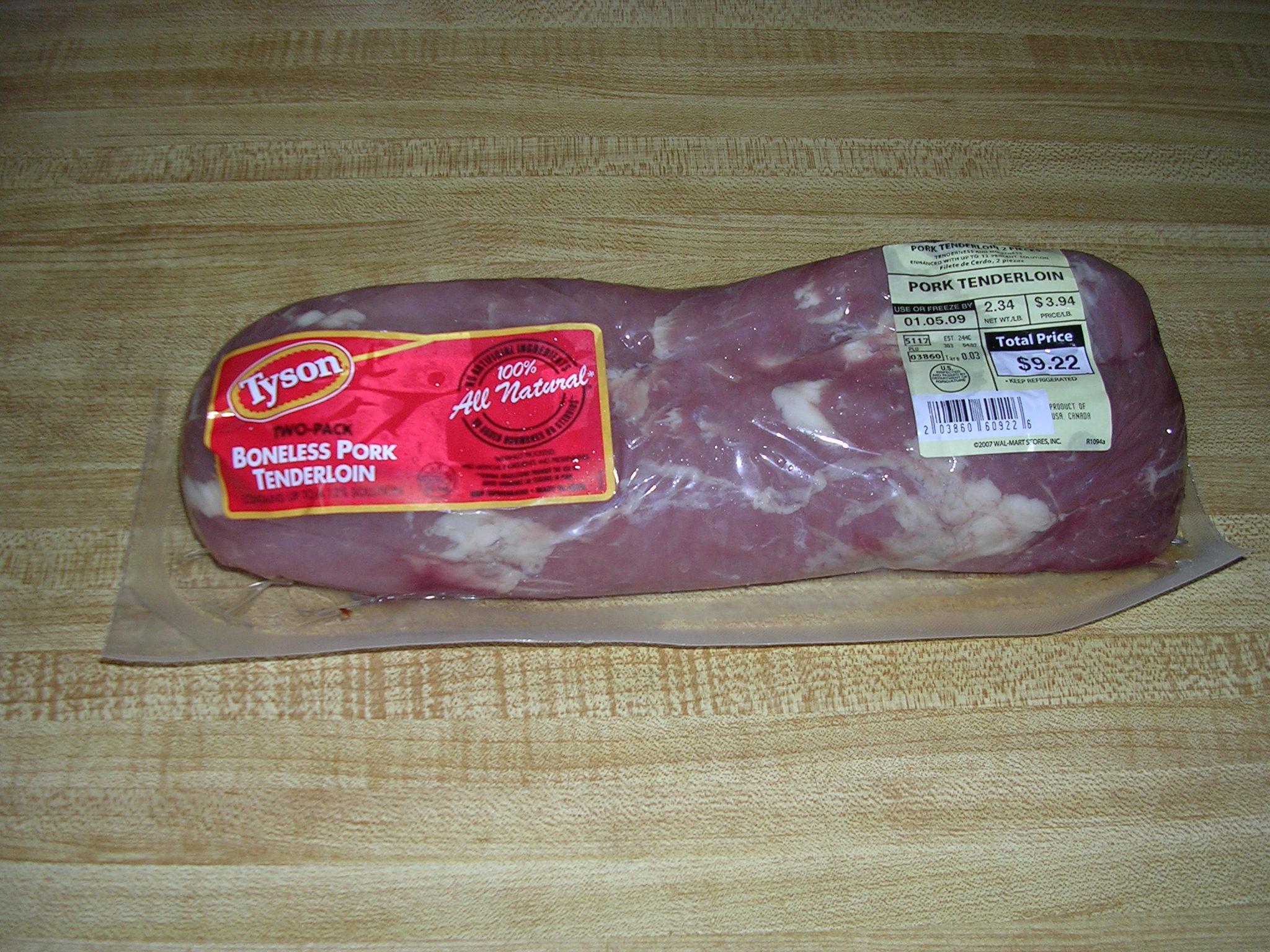 Grilled pork tenderloin swirl