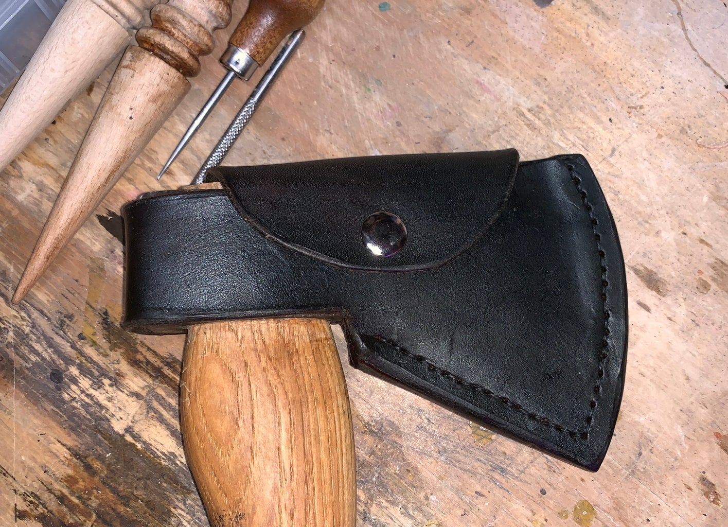Leather Hatchet/Ax Sheath
