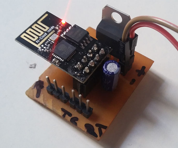 Plug and Play Board for IOT Module ESP8266-01