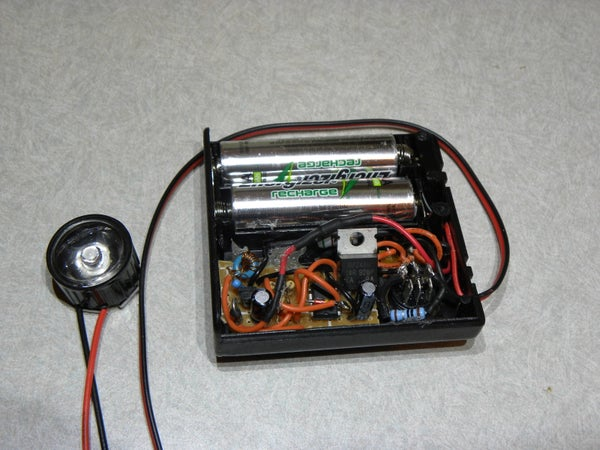 3W LED Strobe - 2 AA Batteries and Joule Thief