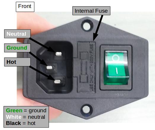3 Pin Screw Mount Power Socket 10A 250V Boat AC-04 KETTLE Plug MAINS DIY Repairs