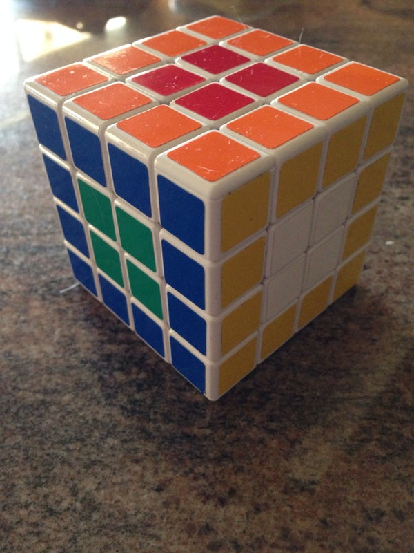 4x4x4 Rubiks Cube Opposite Side Flowers