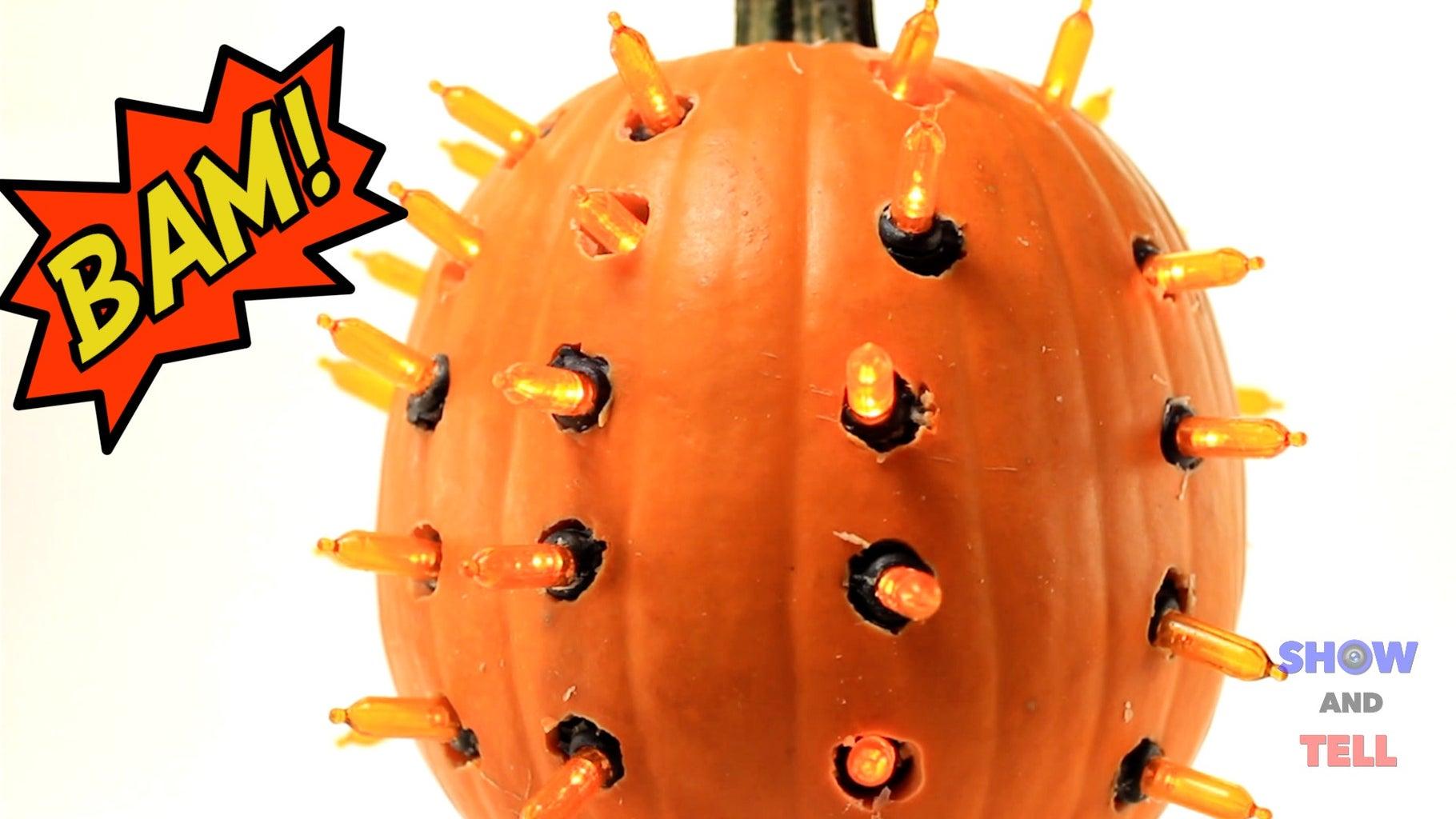 BAM! an LED Lit Pumpkin