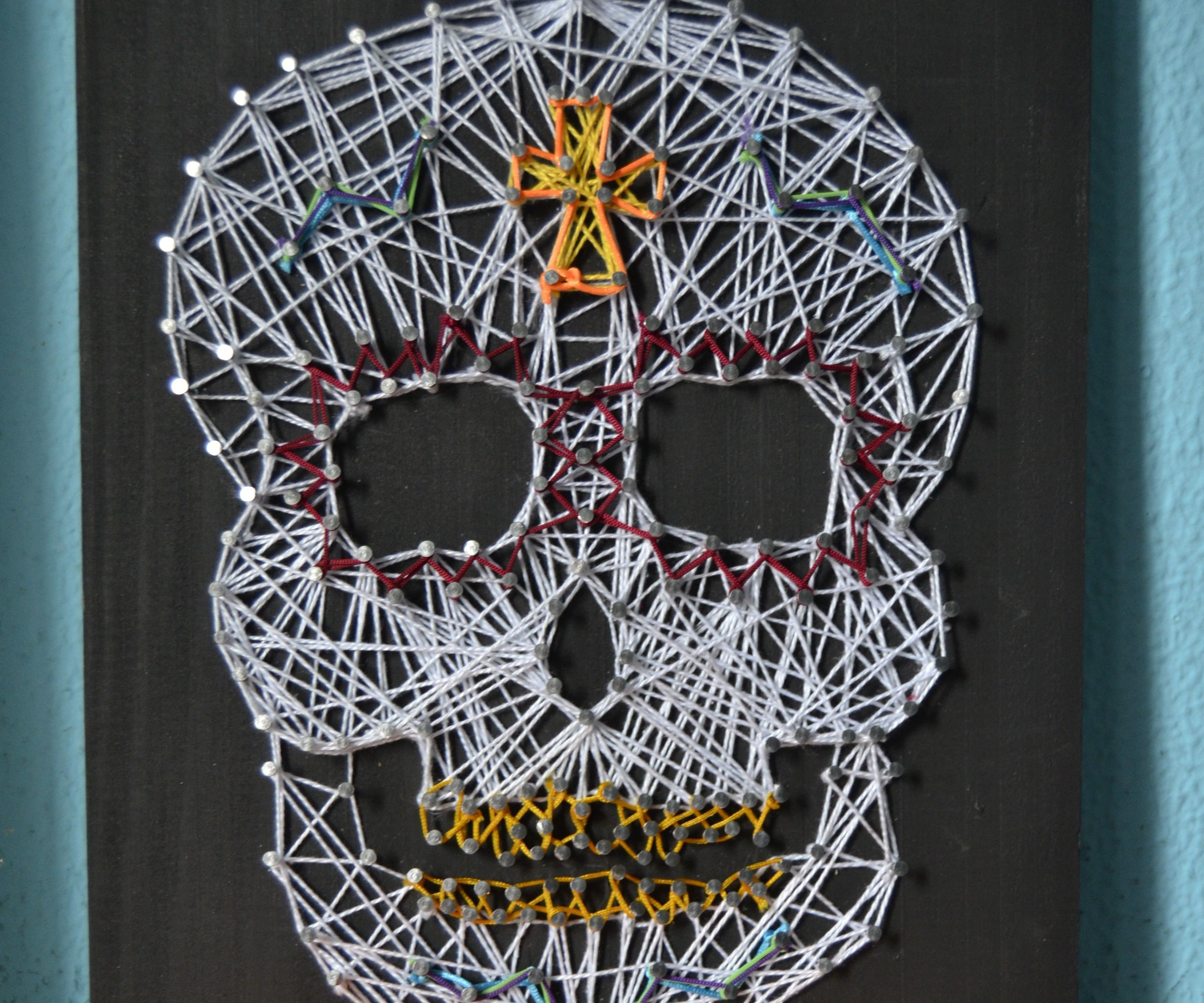 Sugar Skull String Art