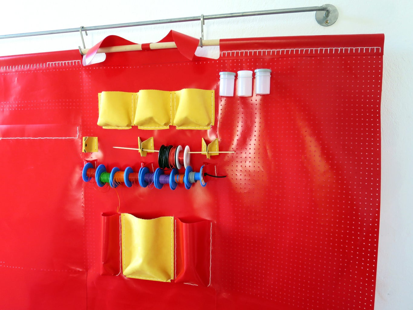 Example: Pegboard Fabric Pockets and Pouches
