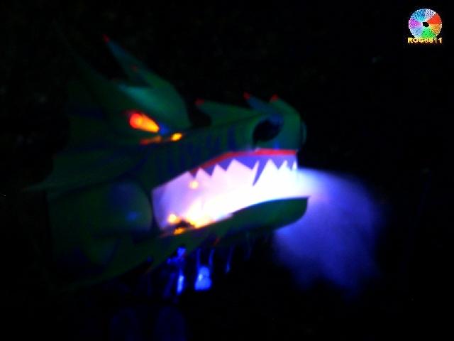 Animatronic, UV reactive Dragon head!