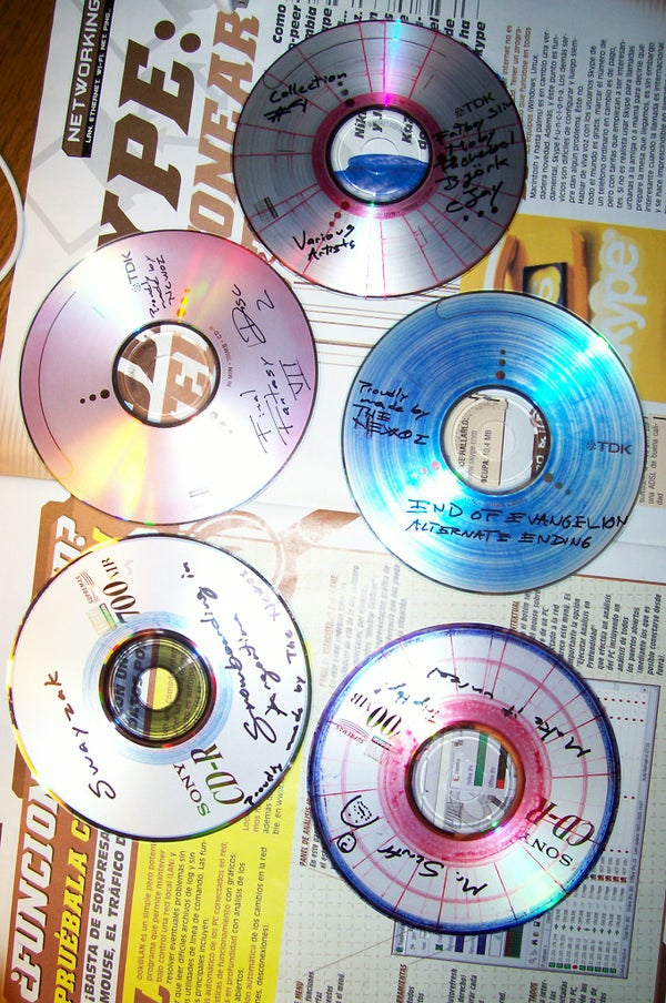 Artistic Designs on Compact Discs