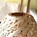 Wood Paper Pendant Swirl Lamp