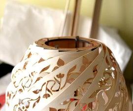 木纸吊坠旋流灯