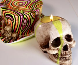 VOODOO SKULL CANDLE...Sculpting, Painting and More! Perfect Halloween Project!