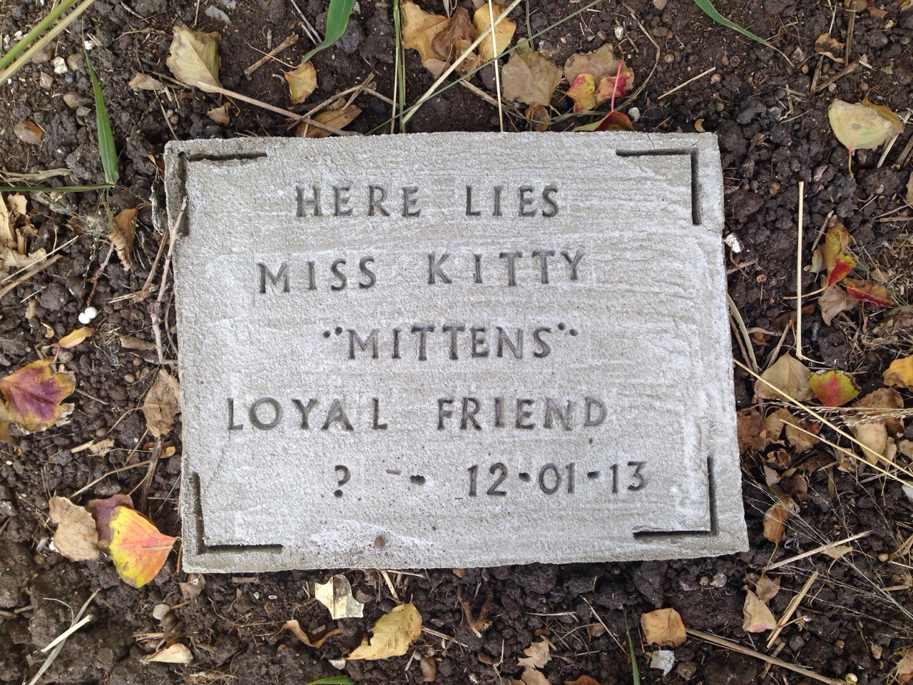 DIY Pet Tombstone/Memorial Stone!