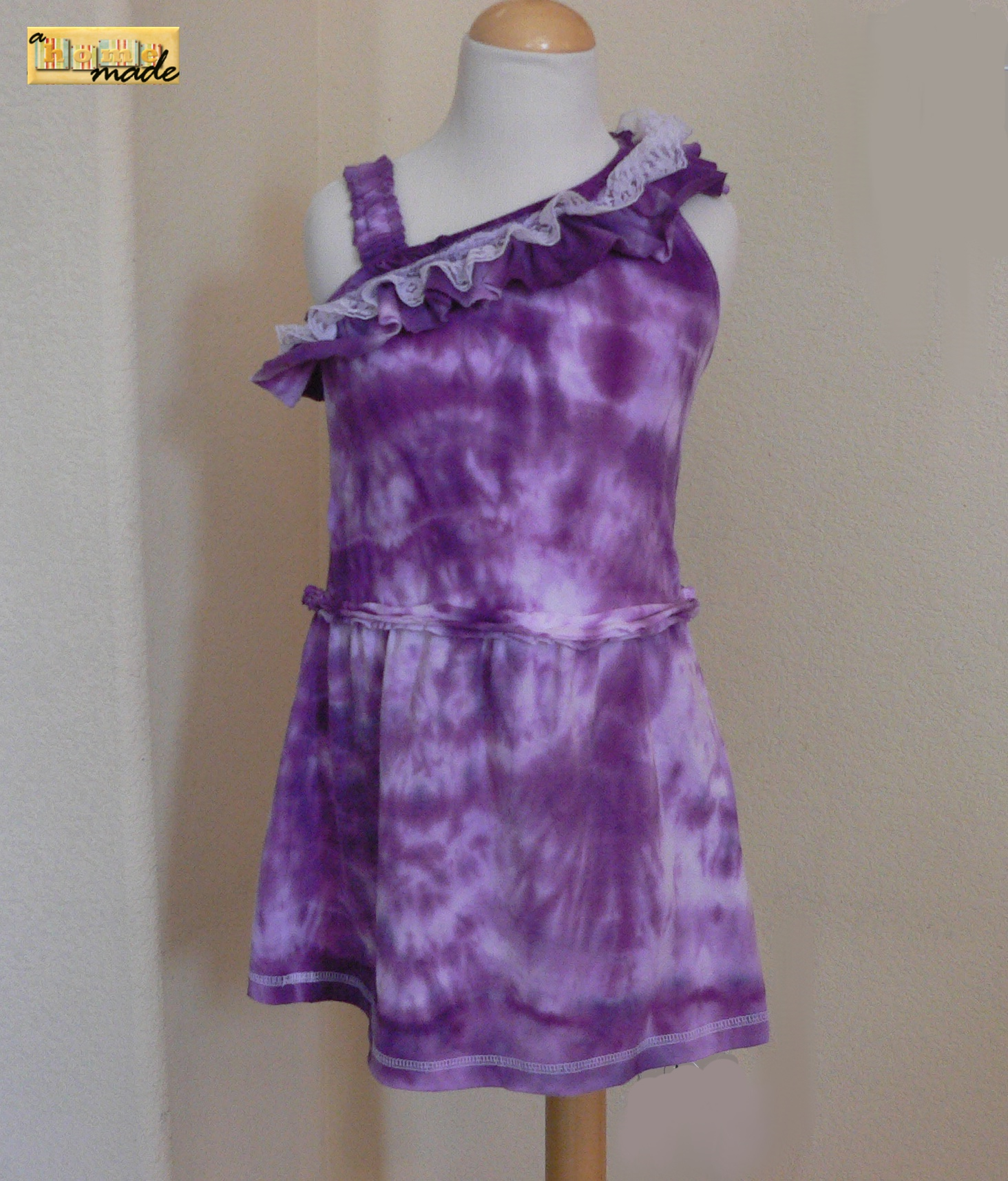 Asymmetrical Dress from Upcycled Tees