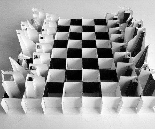 Pop-up Paper Chess Set