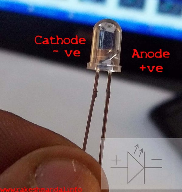 IDENTIFY THE ANODE/CATHODE of LED's
