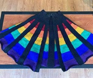针织彩虹面板