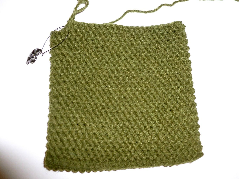 Crochet Potholder Pattern in a Round