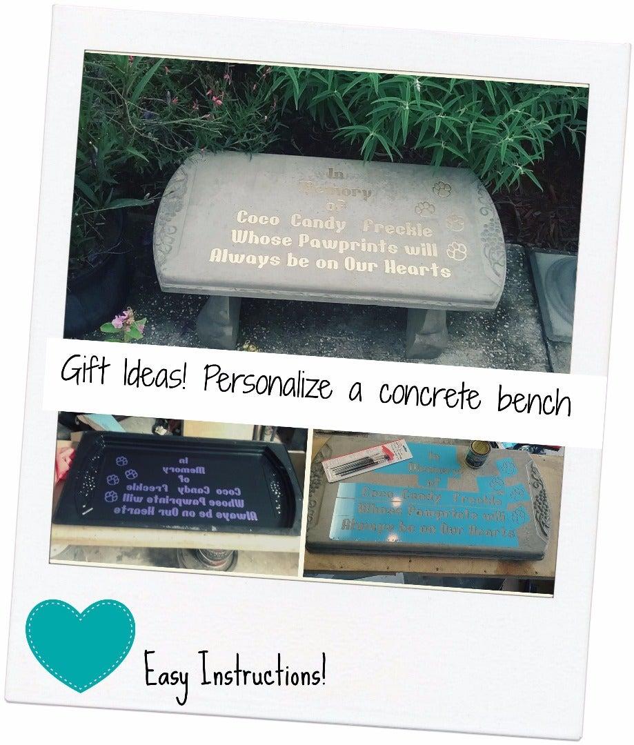 Personalize a Garden Bench