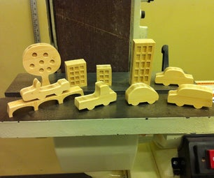 Building a Tiny City Landscape From Scrap (wood)