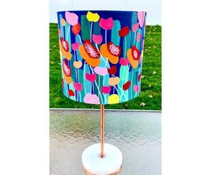 DIY Lampshade - Floral Bloom