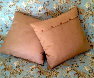 Buttoned Slip Cover for Pillow
