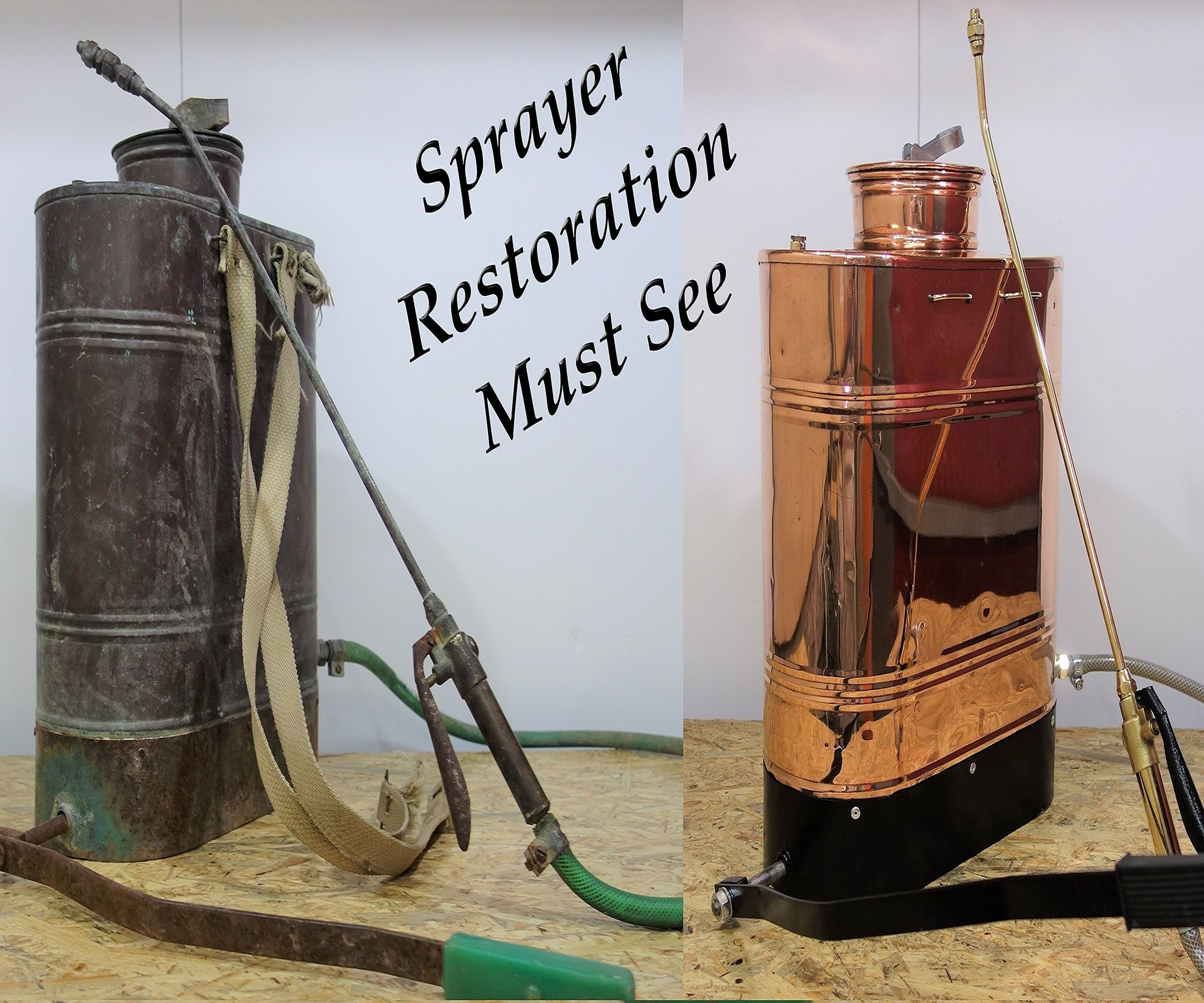 1940s Bakcpack Copper Sprayer Restoration