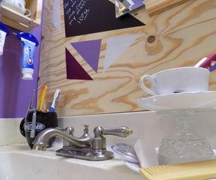 Wallpaper to Wood: a Bathroom Remodel