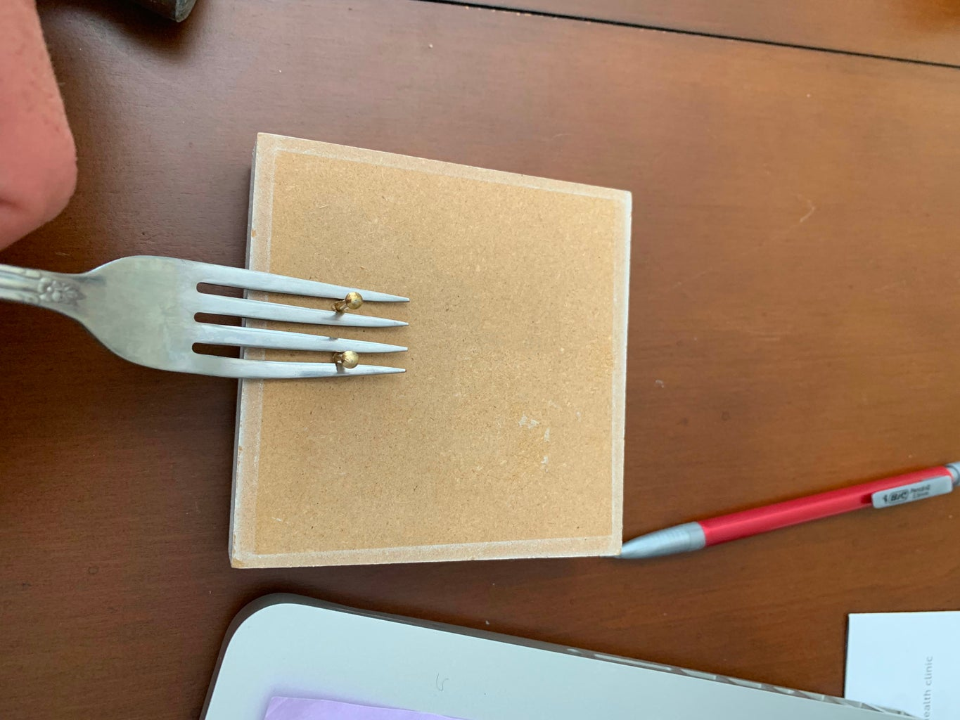 Sliding the Fork Into Place