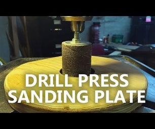 Drill Press Sanding Plate