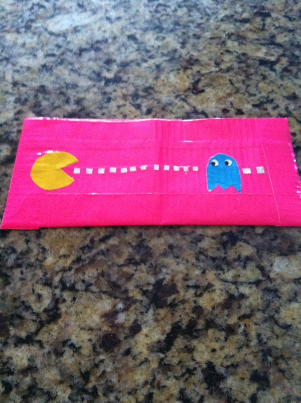 Pac Man Duct Tape Wallet