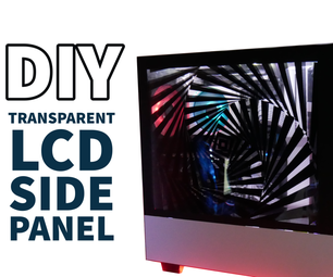 DIY透明侧板从回收的显示器!
