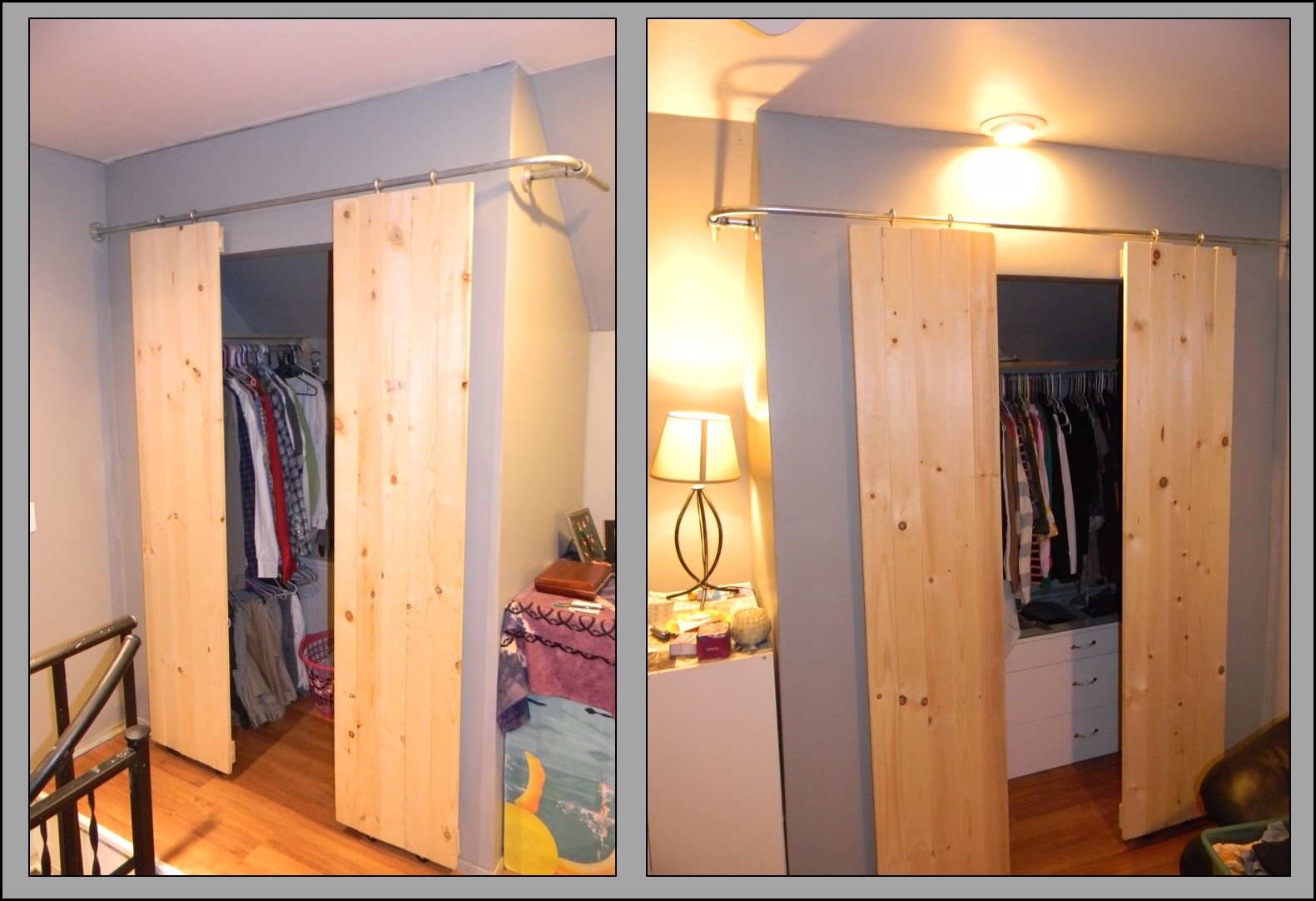 Closets With Sliding Barn Style Doors 6 Steps With Pictures Instructables