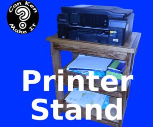 Make a Pocket Hole Printer Stand