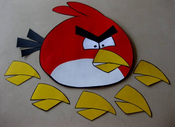 Angry Birds Pin the Beak Party Game
