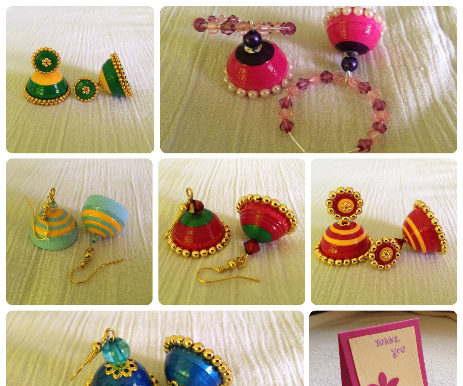 Quilled Earrings (Jhumkas)