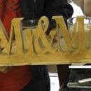 Wooden Mr And Mrs Candle Holder