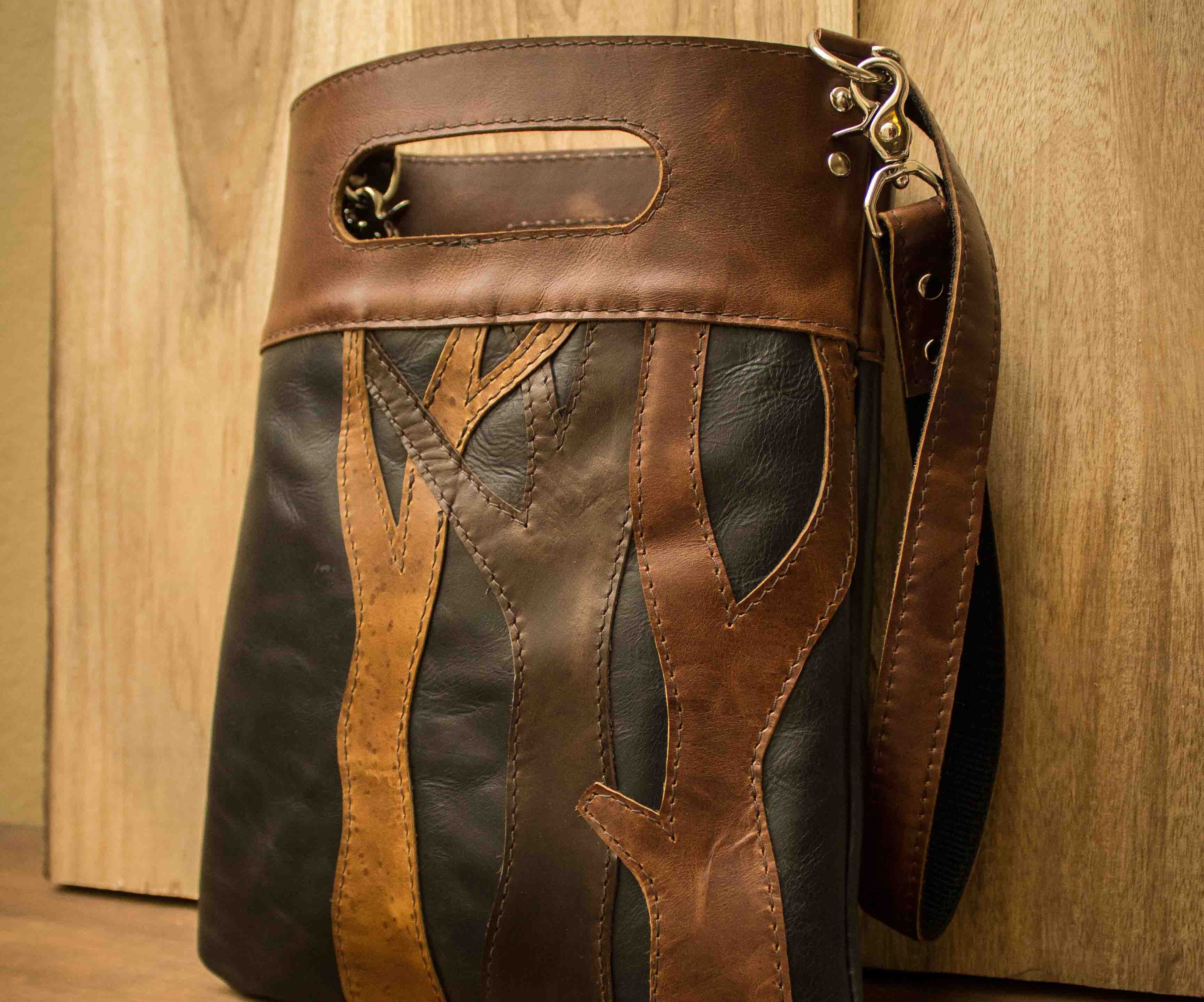 Leather Tree Tote