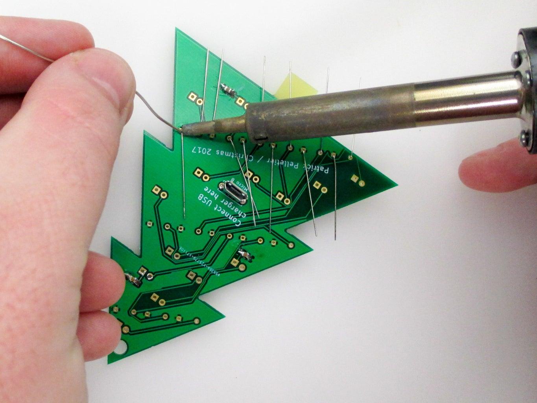 Solder the Resistors