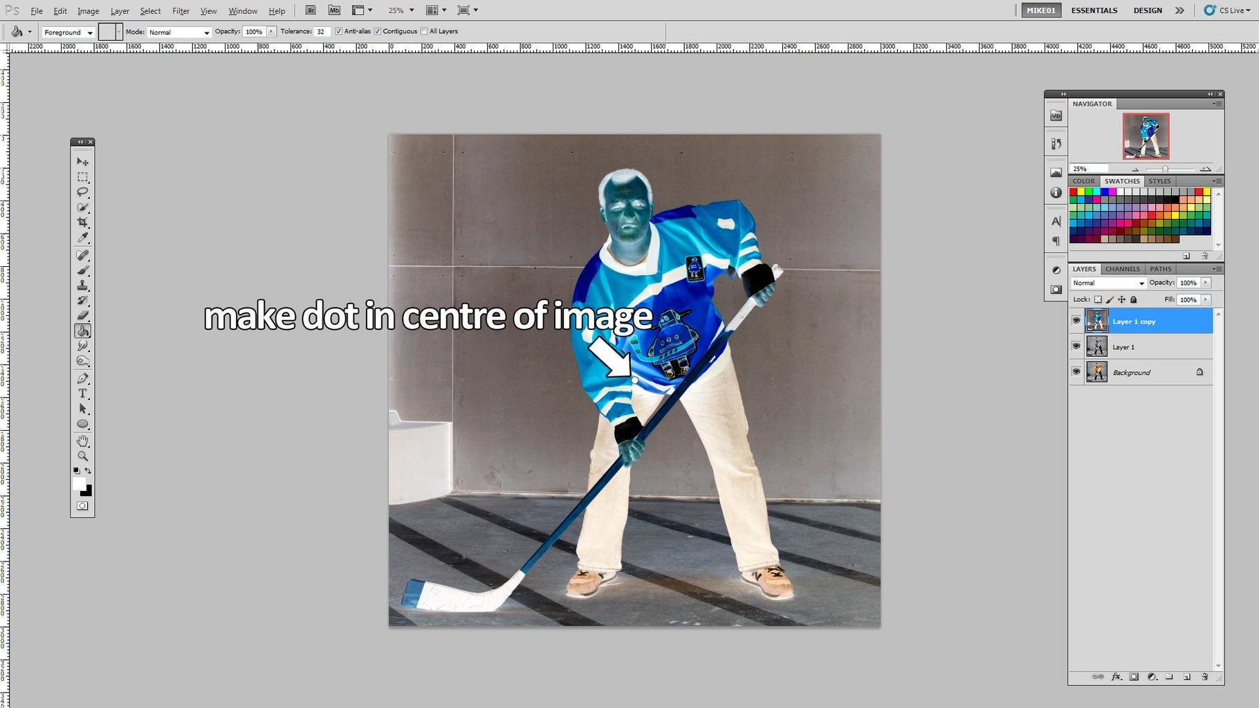 Add Focal Dot on Inverted Layer