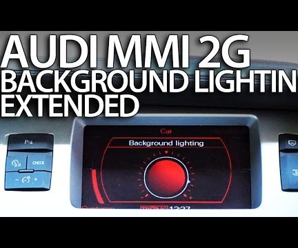 Activate Ambient Light in Audi MMI 2G