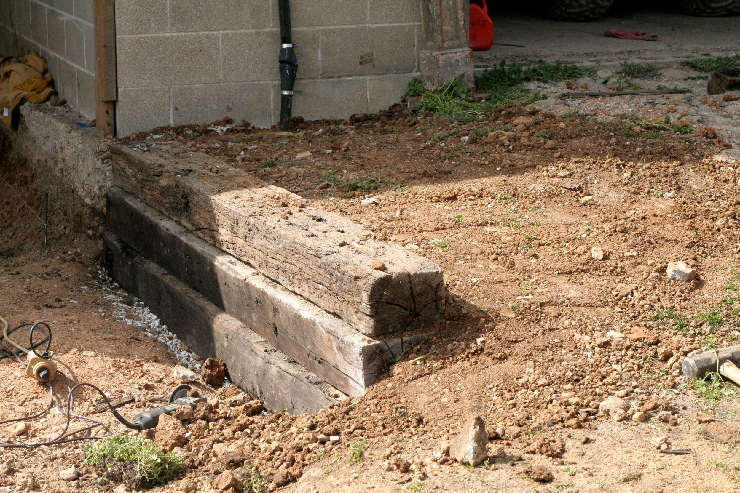 How To Build A Railroad Tie Retaining Wall 10 Steps With Pictures Instructables