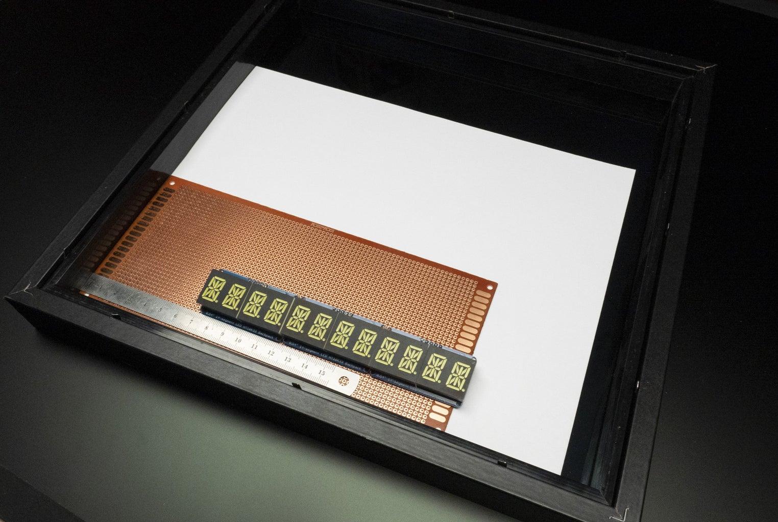 Determine Display Layout Inside Frame and Solder Displays
