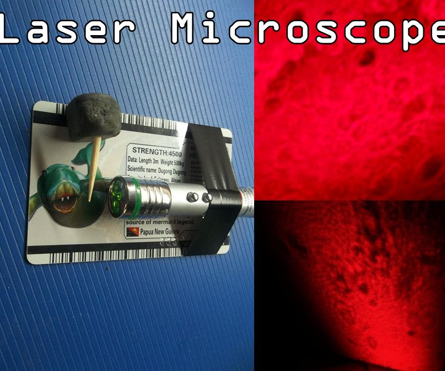 Laser Microscope. Simple but awesome project