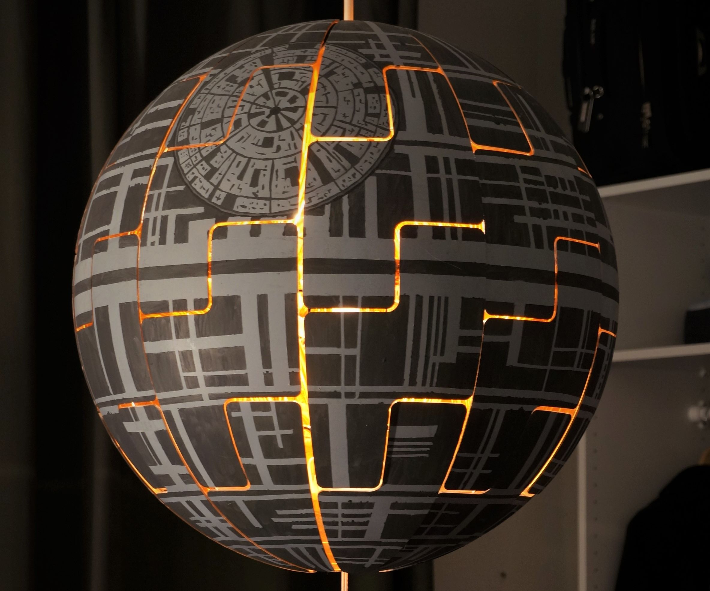 Ikea Ps 2014 Death Star Lamp 4 Steps With Pictures Instructables