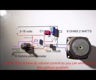 How to Connect Tda 7052B to Volume Control