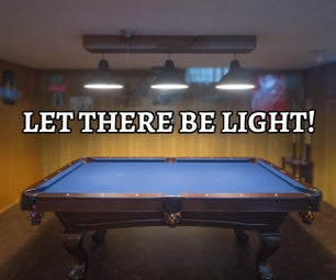 Farmhouse Rustic Pool Table Light With Recycled/Reclaimed Materials