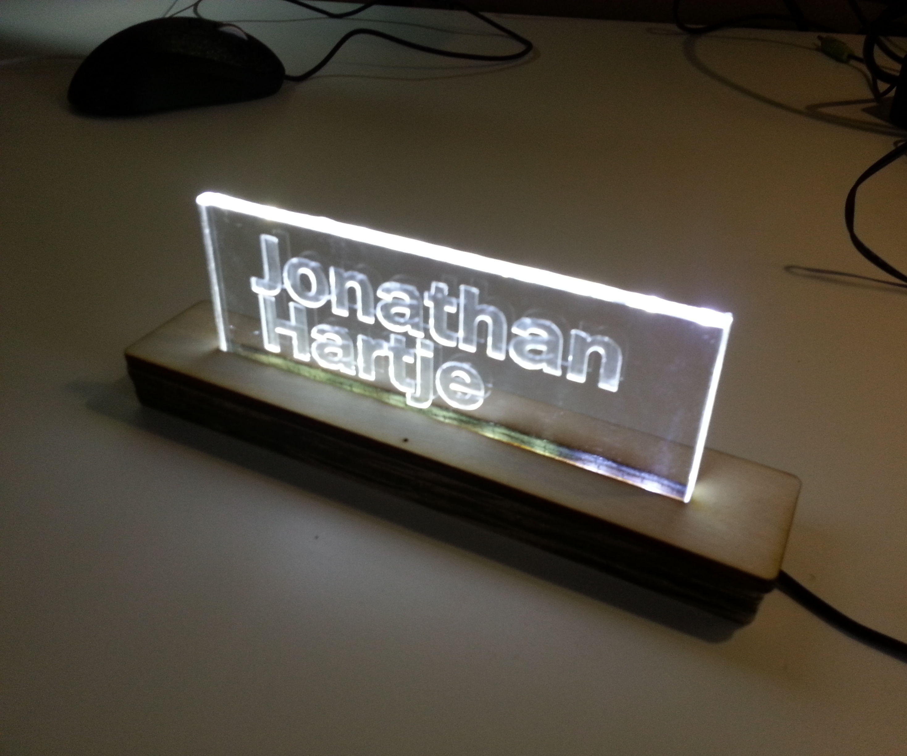 Design and build a side-lit LED sign at TechShop
